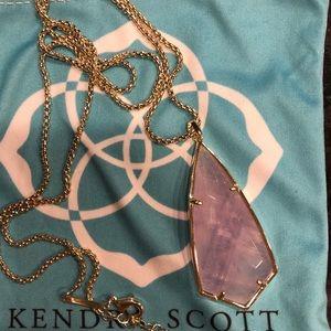 Kendra Scott Pendant Necklace in Purple Amethyst